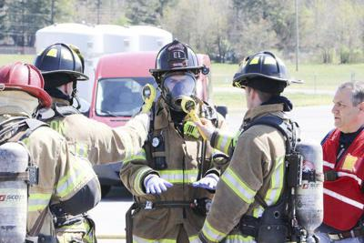 Firefighters train to deal with radioactive material