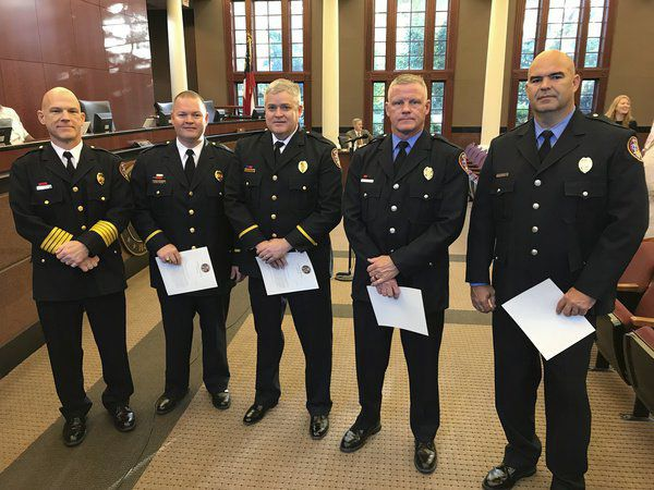 DPD officers honored for life-saving efforts