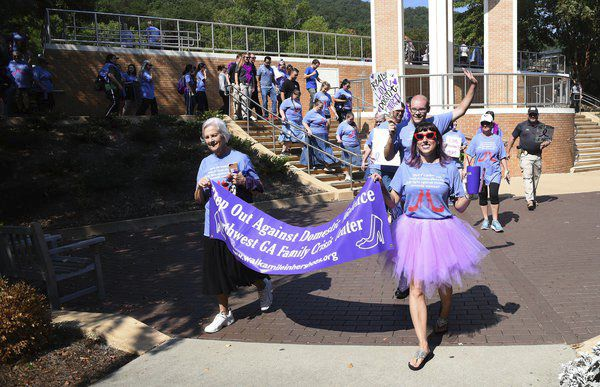 Northwest Georgia Family Crisis Center brings issue of domestic violence to the forefront with Walk a Mile in Her Shoes