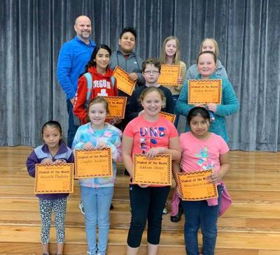 Spring Place Elementary names 4th-6th grade Students of the Month for January