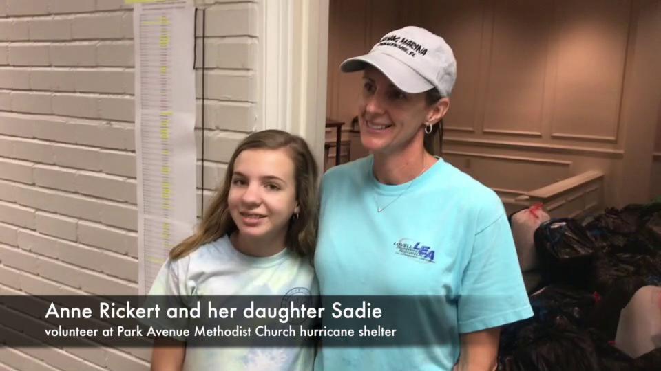 Volunteers at Hurricane Michael shelter