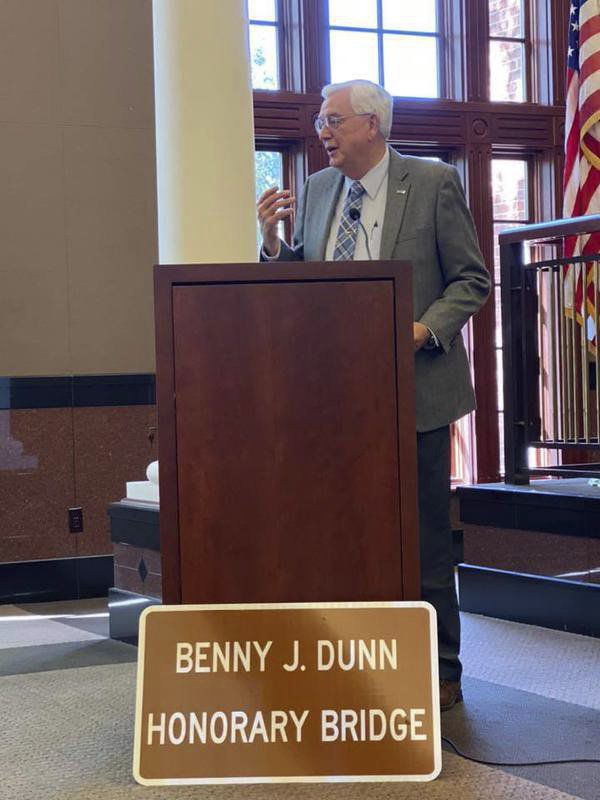 City names bridge in honor of Dunn