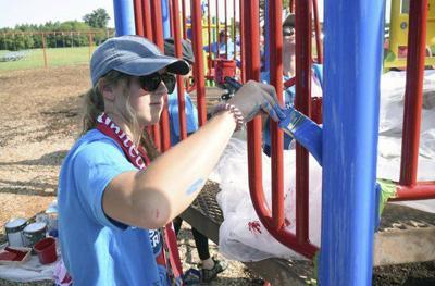 Volunteers, 'Crashers' revamp playground