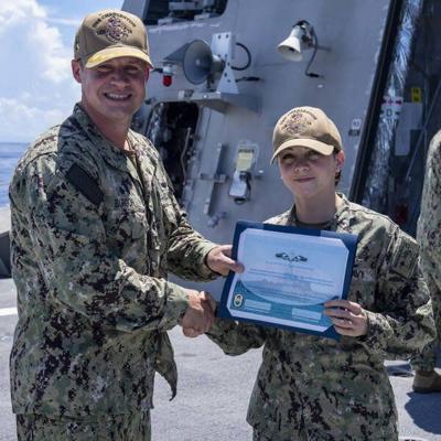 Daltonian receives Navy Enlisted Surface Warfare Specialist certificate