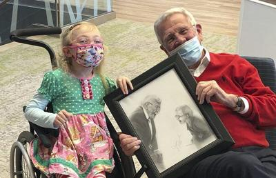 Shaws present special gifts to Anna Shaw Children's Institute patient