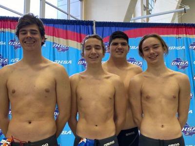 State swim meet competitors