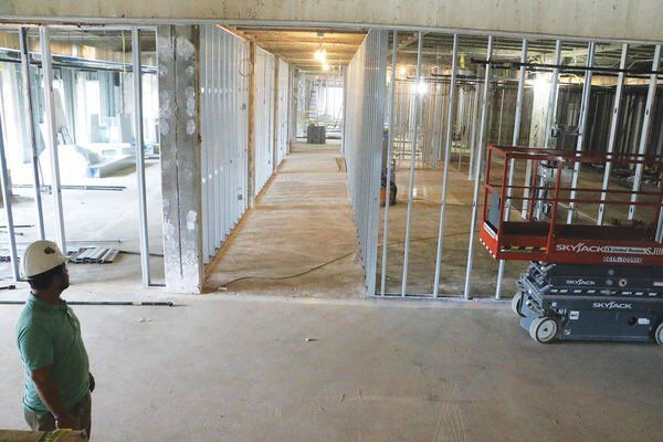 Whitfield courthouse renovations take building down to bare floors, walls
