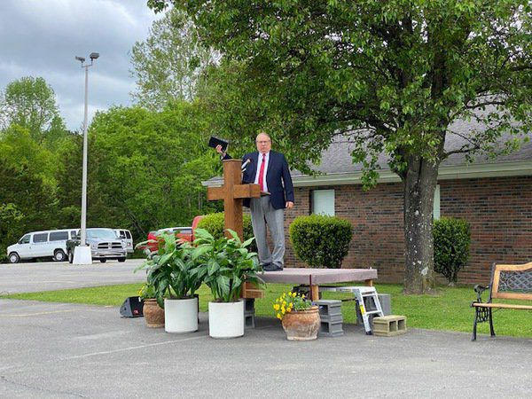 Whitfield Baptist Church holds first drive-in service