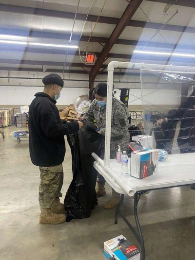 Dalton High School JROTC cadets help with Sharing is Caring