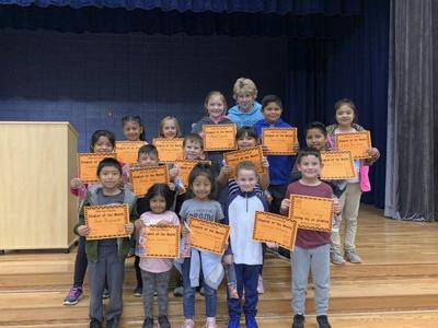 Spring Place Elementary recognizes K-3 Students of the Month