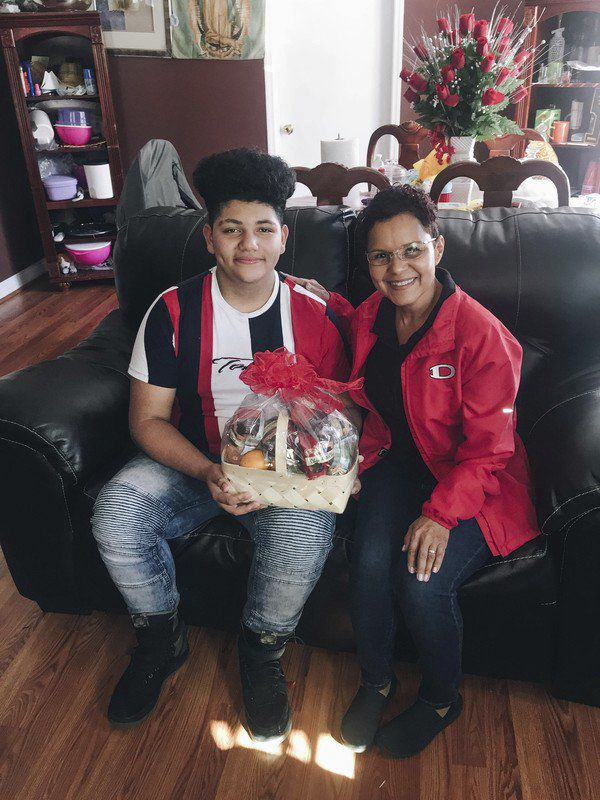 Dalton Middle School teacher surprises 47 students with gift baskets
