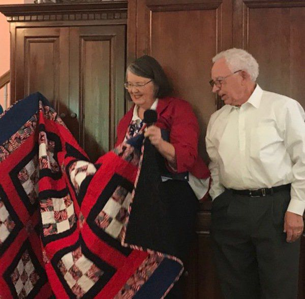 Two local veterans honored with Quilts of Valor