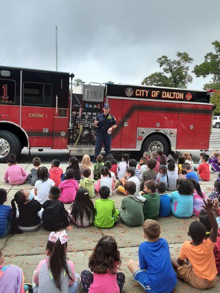 Firefighters provide safety tips to City Park School students