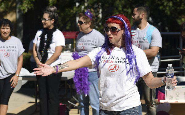Walk a Mile in Her Shoes brings attention to domestic violence