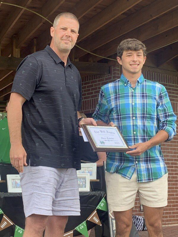 Local college-bound football players receive scholarship named for late local coach Bill Napier