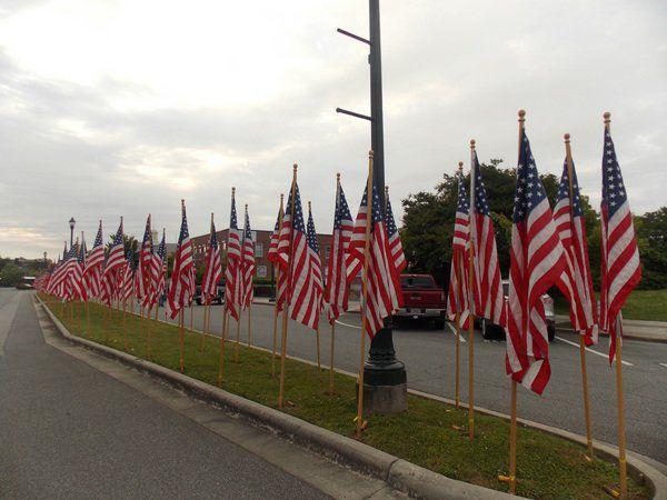 Memorial Day flags symbolize sacrifices of those who serve