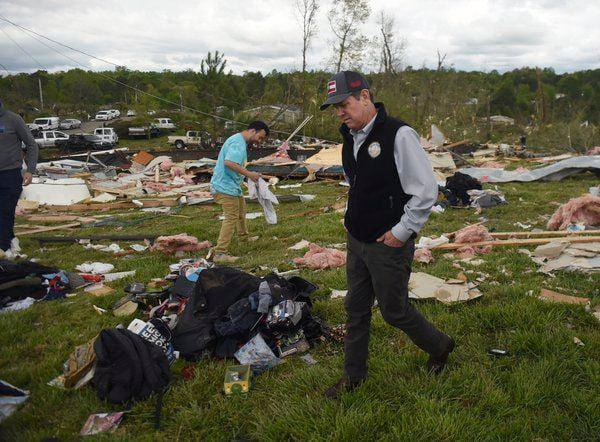 Gov. Kemp examines the damage