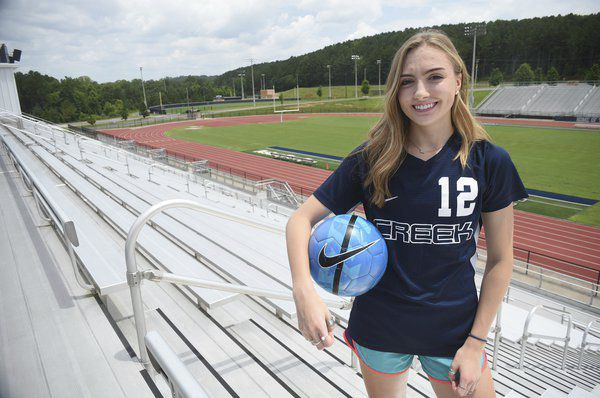 Leading from the front: Larsen earns Creek's first-ever soccer player of the year after standout senior season