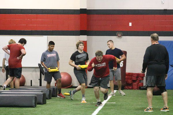 A day with the Catamounts: Dalton High football finds silver lining in restricted workouts