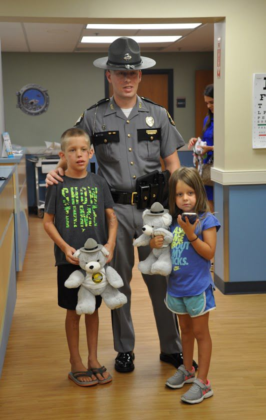 Trooper and kids