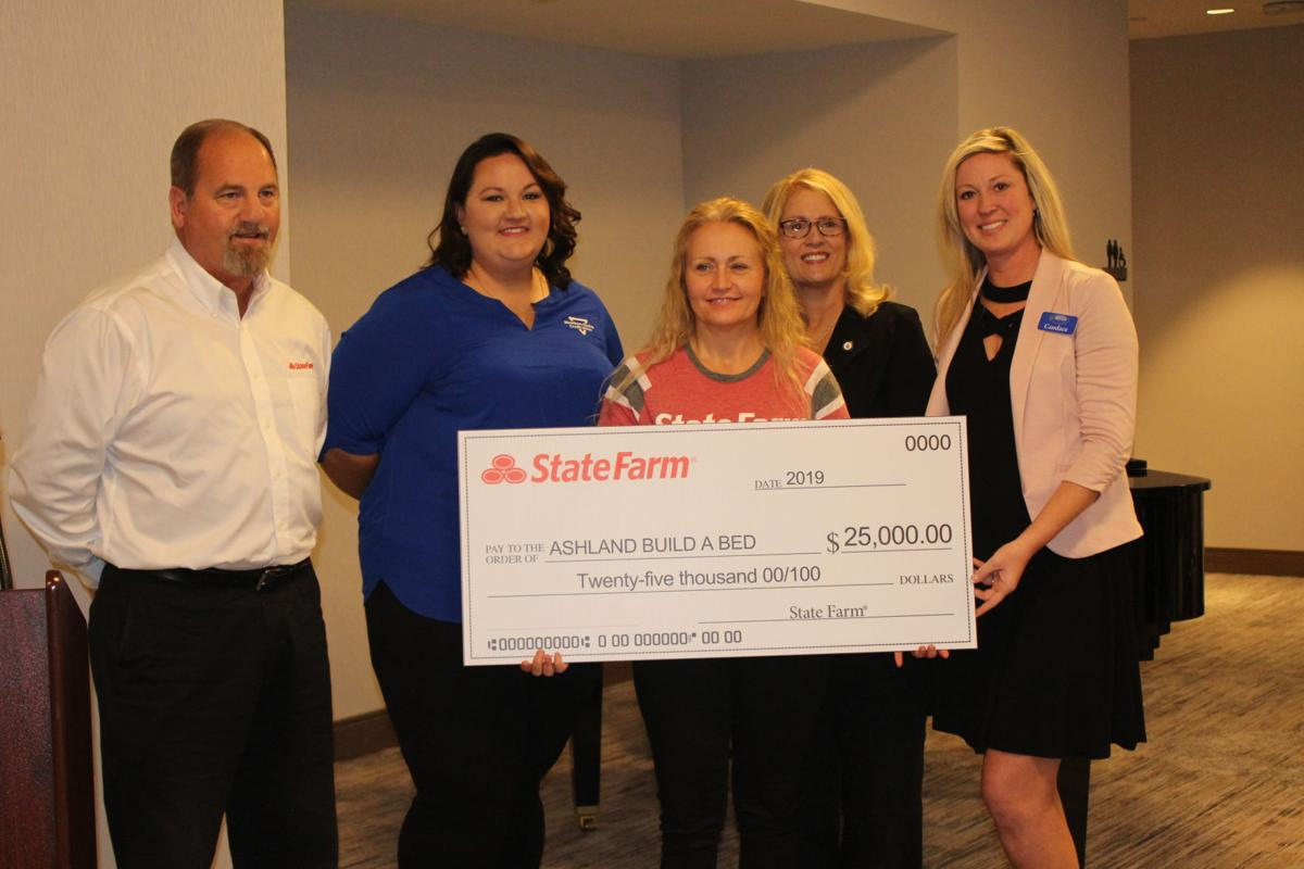 State Farm check presentation