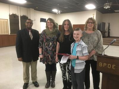 aarp grandparent of the year essay winner named  news  crabbe principal and teacher uriah tolbert left with kristy minton  laurie jenkins and her grandson brayden stefanich and grandparents essay  chaiarman