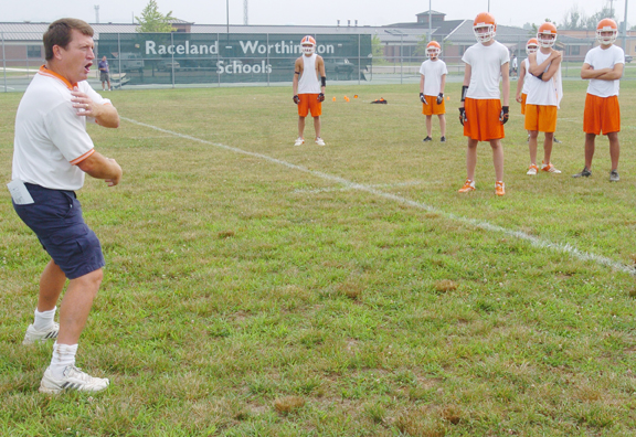 Rams football practice