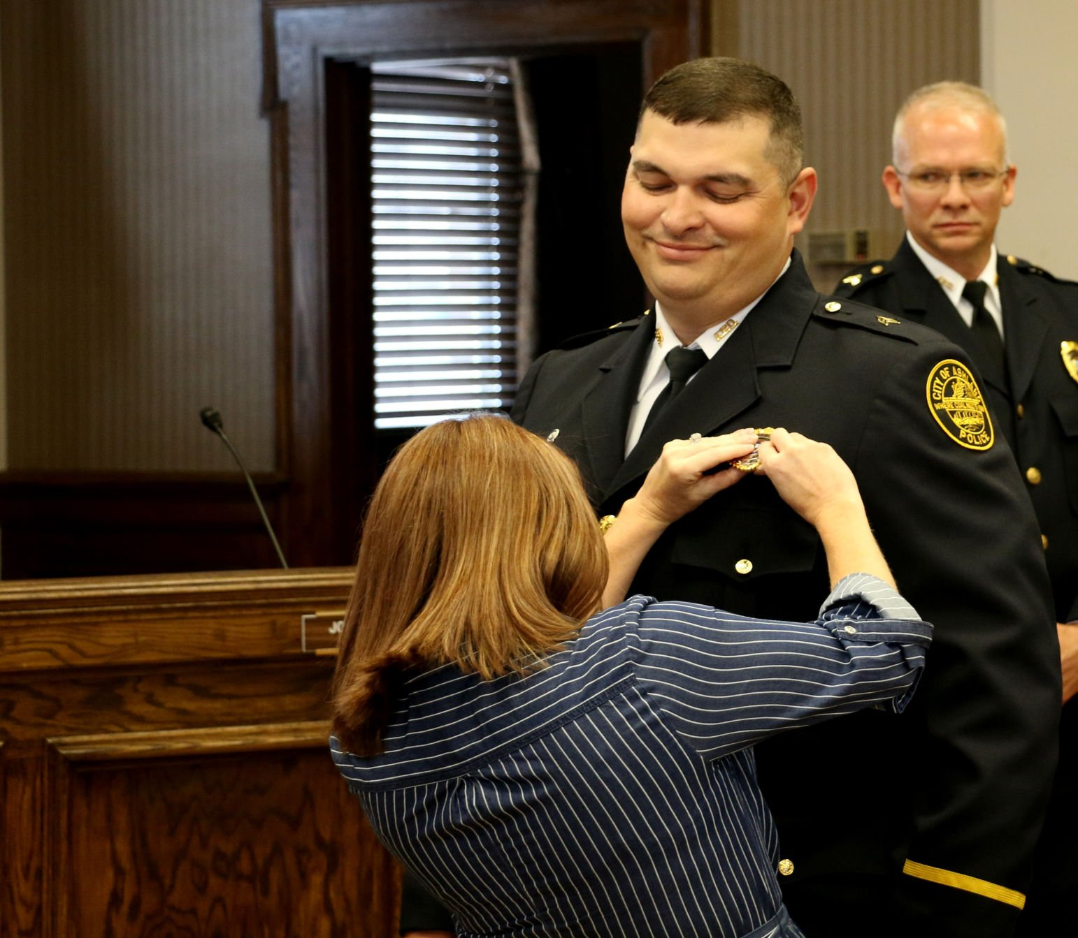 APD swears in eight positions at pinning