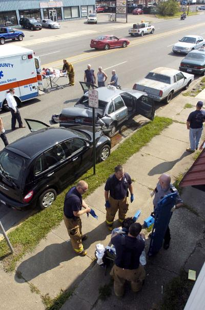Four-car wreck