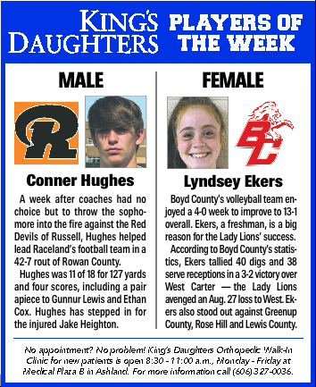 KDMC Players of the Week (Sept. 1-7)