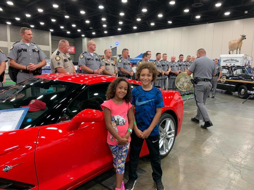Cannonsburg woman wins corvette raffle at police camp