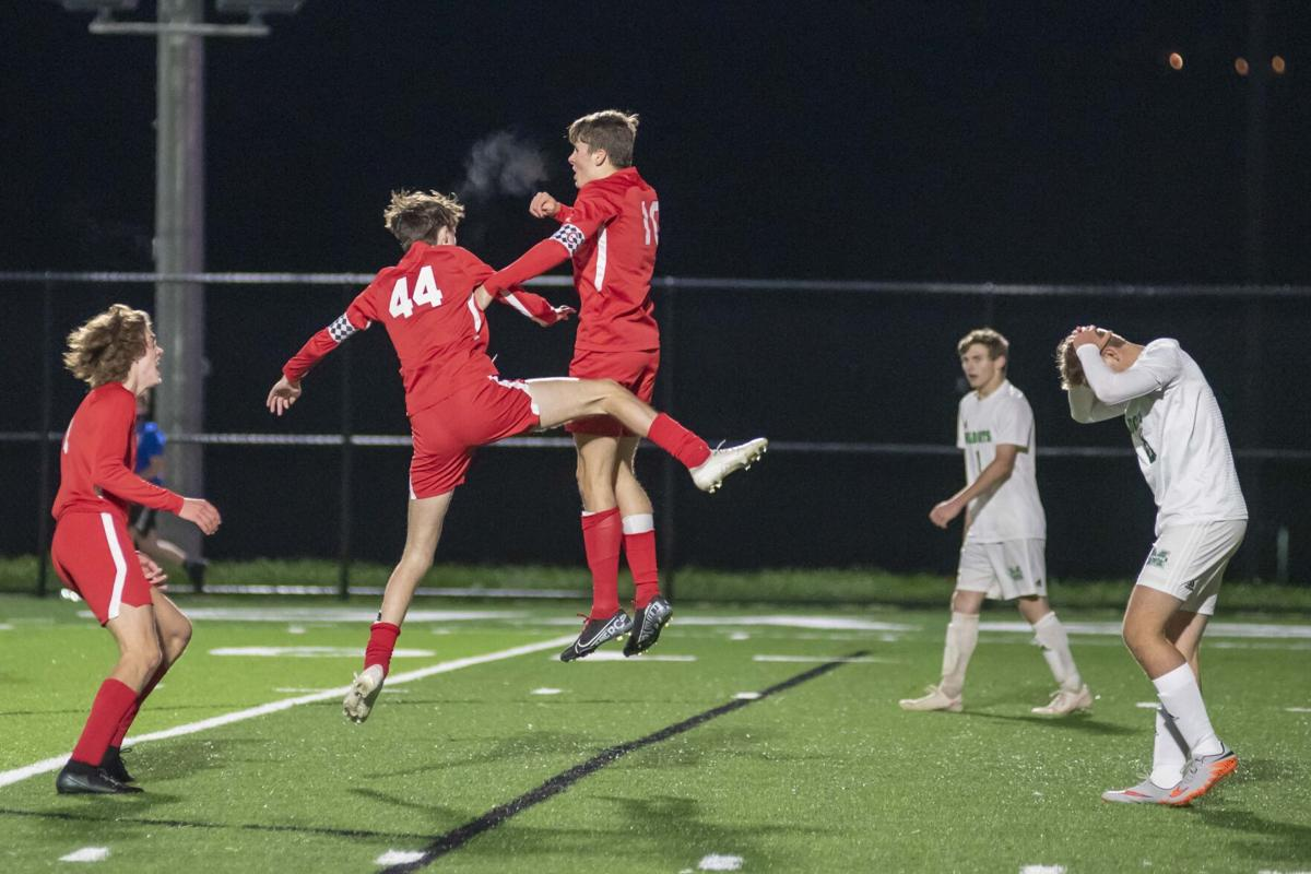 Rylan Keelin celebrates with JB Walter after his GW goal 1.JPG