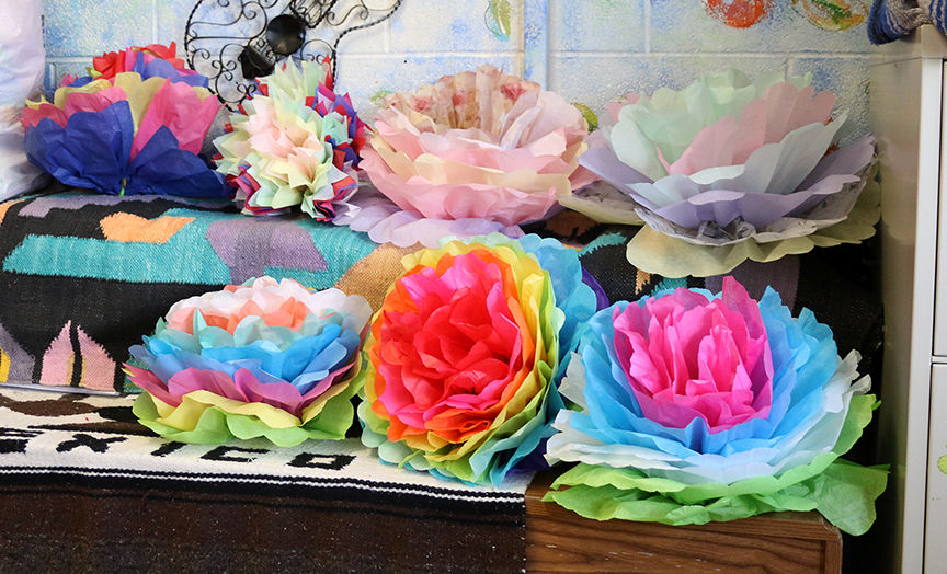 Russell students learn true meaning of cinco de mayo news russell high school spanish students made tissue paper flowers in celebration of cinco de mayo on friday rachel adkins the daily independent mightylinksfo