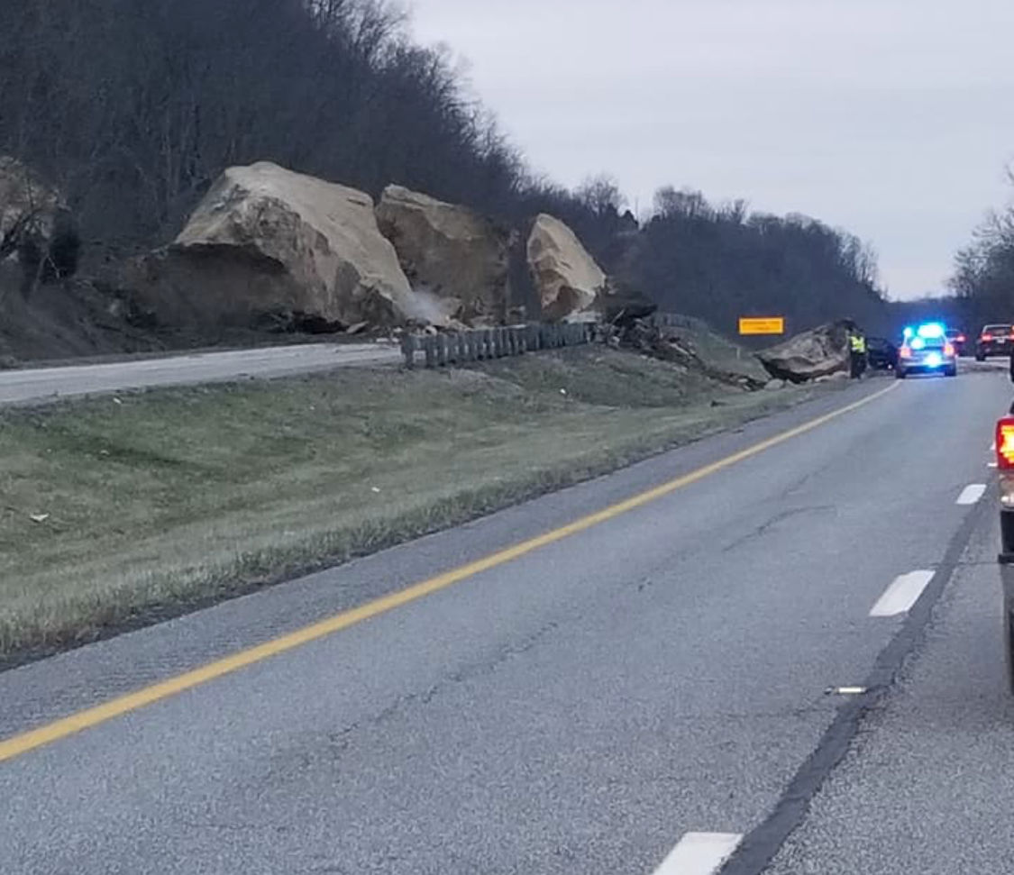 Rock Slide Causes Road Closure On SR 7 West