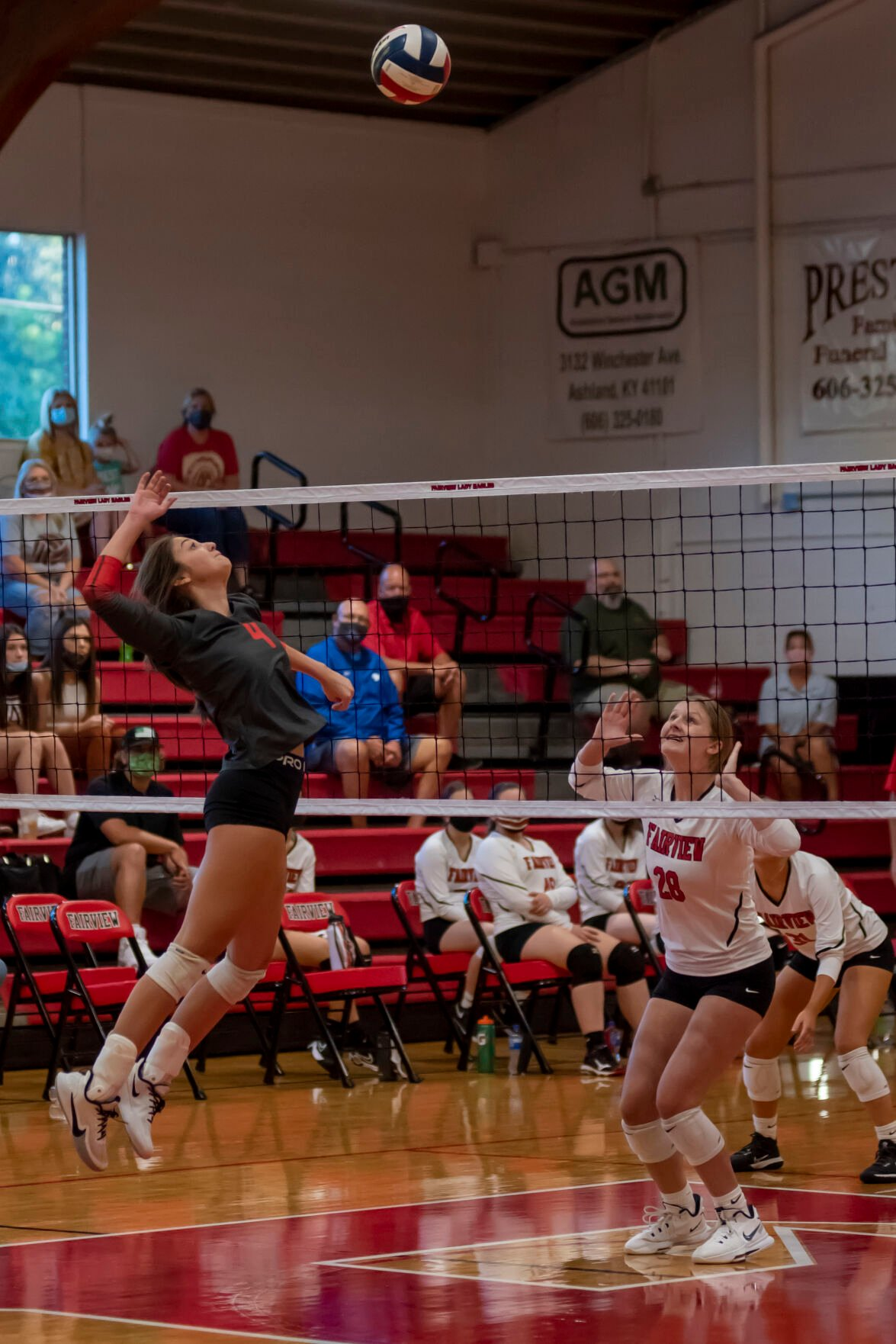 Emma Sparks rises up for a kill at the net.JPG