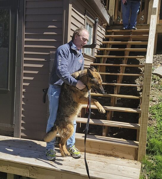 Handler, retired service dog reunited by K9 Hero Haven