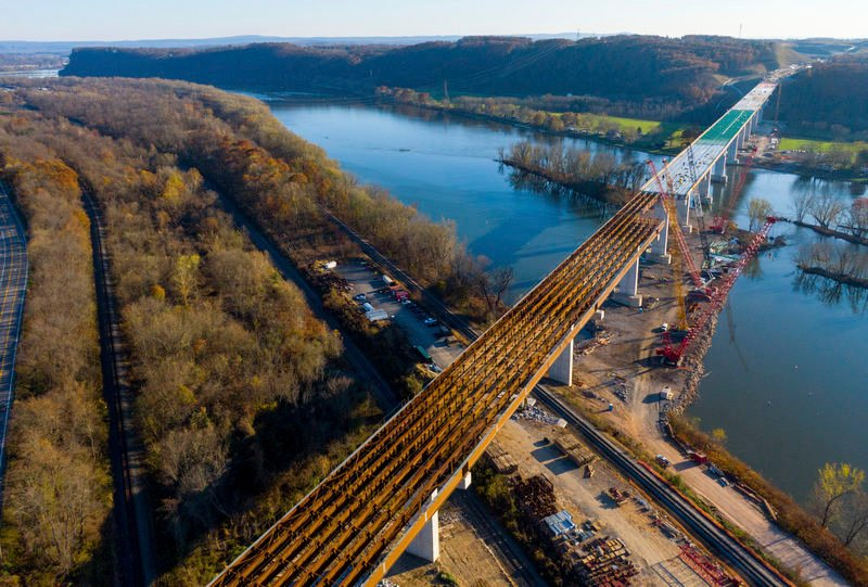 Final spans for thruway bridge may be finished next week