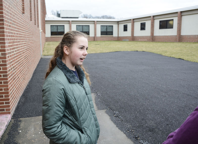 Outside classroom expected to be finished by April, pays tribute to deceased teacher