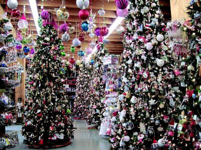 photo by karen blackledgethe danville news christmas trees display more than 50000 ornaments at the christmas shoppe at kohl s stony hill tree farm near