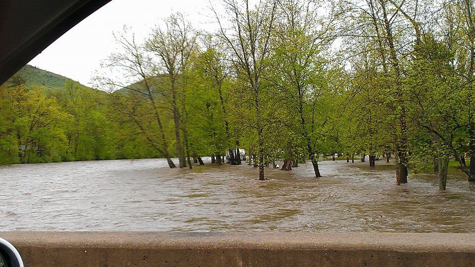 Penns Creek Overflows Its Banks Today In The Area Of The Penns Creek  Campground Near Weikert, Union County, In This Facebook Photo Shared By  Kendrisa ...