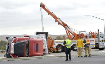 Turkey Truck Overturns