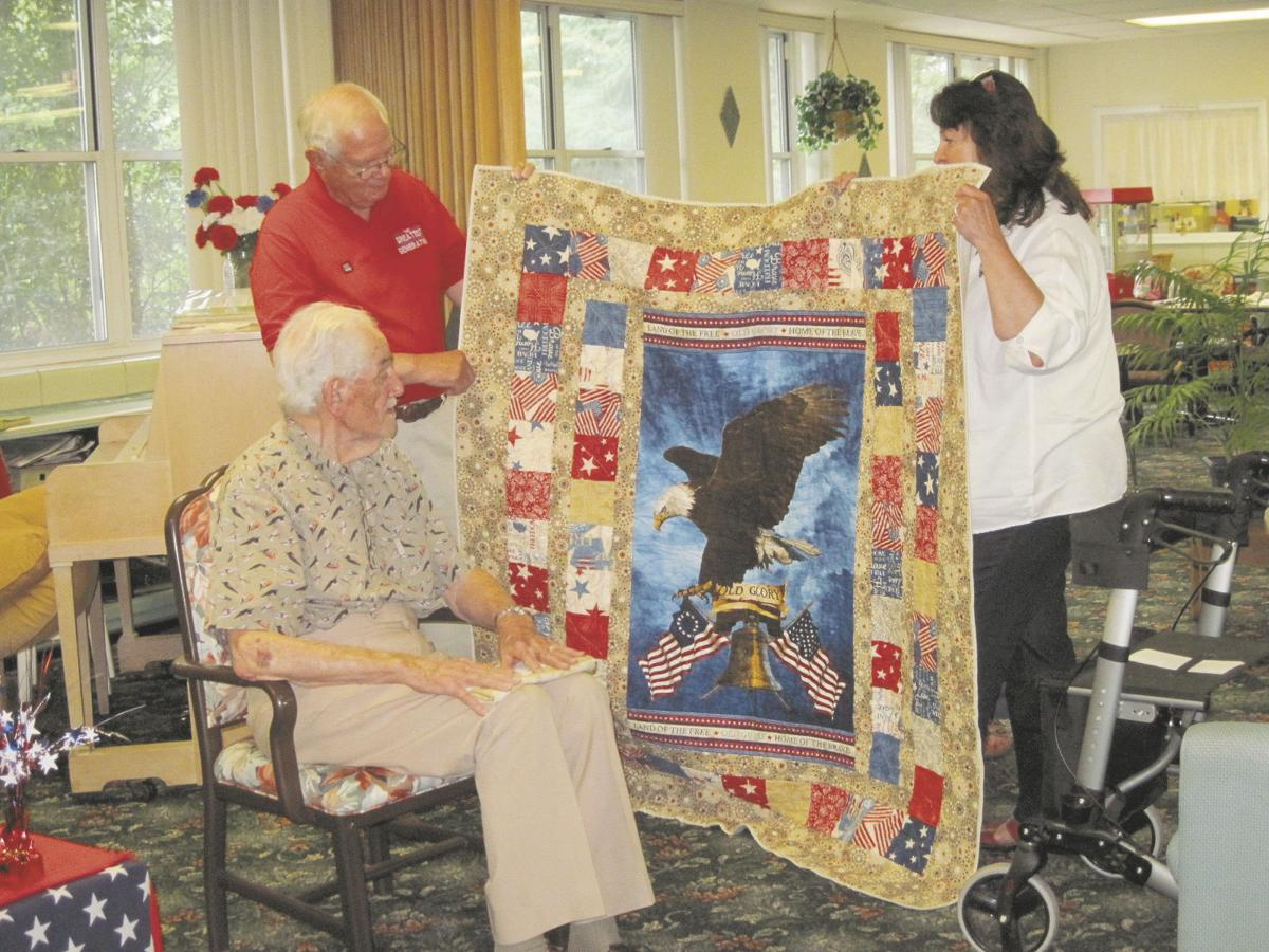 Relative Stitches Presents Quilt Of Valor To Veteran