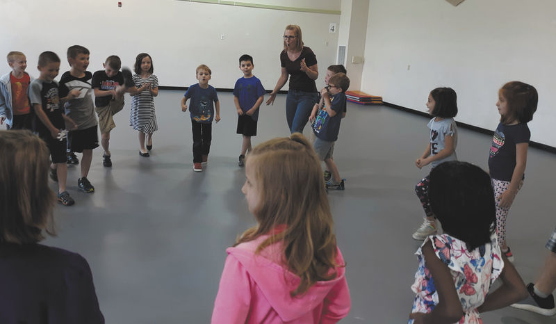Summer camp members learn about acting from Bloomsburg Theatre Ensemble actors