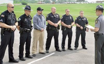 Six Valley police officers honored | News | dailyitem com