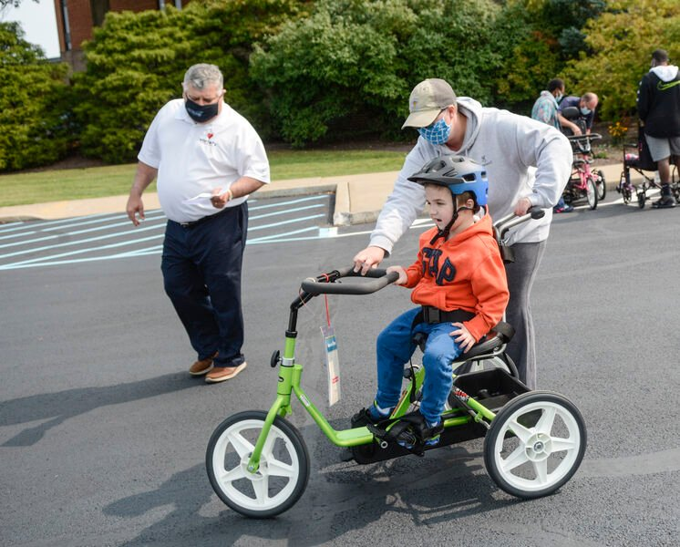 Some Valley students take first rides on donated bikes