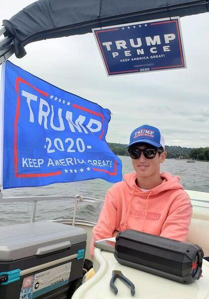 Trump supporters parade down Susquehanna River