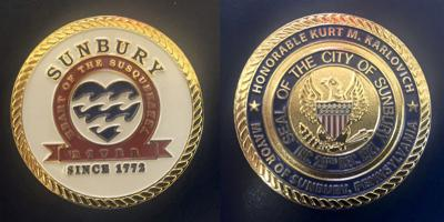 Sunbury mayor's challenge coins purchase disputed by city resident