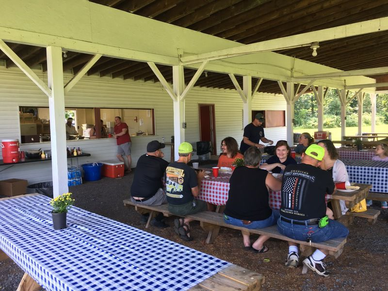 Mahoning fire victims put on picnic for first responders, families