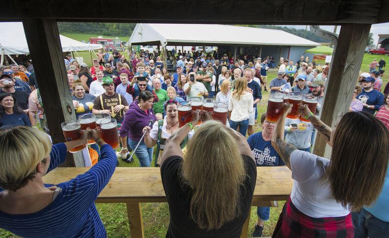 Residents toss, lift, drink at Mifflinburg's 14th annual Oktoberfest