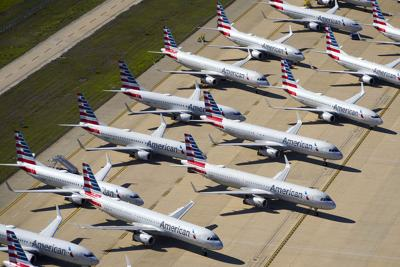 American Airlines is parking another line of jets with a dismal forecast travel demand